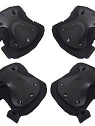 economico -4 pezzi Black Hawk protettore cs passeggiate all'aperto ginocchiera gomito bretelle set accessori moto