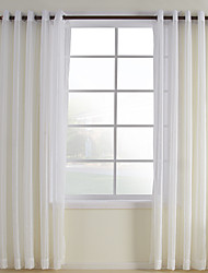 cheap -Sheer Curtains Shades Bedroom Plaid / Check Polyester / Cotton Blend Polyester Jacquard