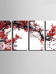 economico -Moderno/Contemporaneo Altro Orologio da parete,Rettangolare Tela 30 x 60cm(12inchx24inch)x4pcs/ 40 x 80cm(16inchx32inch)x4pcs Al Coperto
