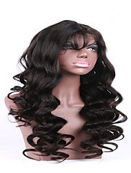 Hot Sale 7a Natural Black Color Brazilian Virgin Human Lace Front  Wigs Wholesale For Black Woman China Supplier