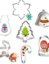 cheap -7pcs Creative Stainless Steel DIY Cake Biscuit Baking Mold Christmas  Series Fondant Cookie Cutters Moulds Sugar Paste Cake