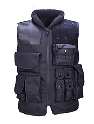 Hunting Gilet Tactical Men's Women's Unisex Sleeveless Solid Vest/Gilet Top for Hunting Spring Summer Winter Fall/Autumn Black