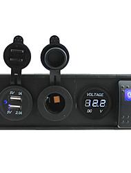 DC 12V / 24V светодиодный индикатор питания вольтметра 3.1a USB порт розетки с Кулисный перемычек и держатель корпуса