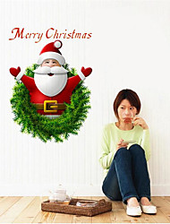 cheap -1Pcs 27Cm*20Cm Santa Claus Wall Stickers Can  Paste In  Store Supermarket Store Window Or Home
