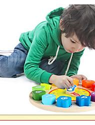 Недорогие -QZM Деревянные часы Обучающая игрушка Оригинальные Образование деревянный Мальчики Девочки Игрушки Подарок