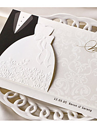 cheap -Tri-Fold Wedding Invitations 50-Invitation Cards Classic Style Card Paper