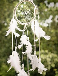 1Pcs  Newest Handmade Dream Catcher Net With Feathers Hanging Decoration Decor Craft Gift Wind Chimes