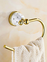 economico -Porta rotolo di carta igienica Moderno Ottone 1 pezzo - Bagno dell'hotel anello asciugamano