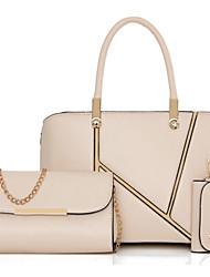 Damen Taschen Ganzjährig PU Bag Set mit Blume(n) Reißverschluss für Formal Blau Champagner Schwarz Rote