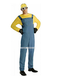 Inspired by Cosplay Men's Minion Style Kevin Costume Cosplay Suits Solid Yellow Blue Long Sleeve Leotard For Kid