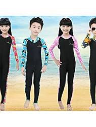 cheap -Bluedive Kid's Dive Skin Suit Thermal / Warm Quick Dry Ultraviolet Resistant Front Zipper Sunscreen Full Body Chinlon LYCRA® Long Sleeves
