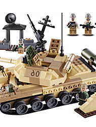 cheap -GUDI Building Blocks 372pcs Tank Professional Level Cool Boys' Toy Gift