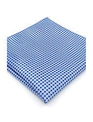 cheap -Mens Pocket Square Blue Dots 100% Silk Business Dress Casual Jacquard Woven For Men