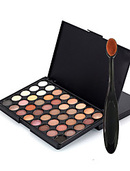 cheap -40 Color Eyeshadow Palette Dry Eyeshadow palette Pressed powder Normal Daily Makeup Brush