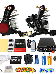 cheap -Solong Tattoo Beginner Tattoo Kit 2 Pro Machine s Power Supply Needle Grips Tips