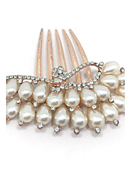 Lady's Imitation Pearl Hair Comb for Wedding Party Casual Hair Jewerly