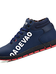 Men's Athletic Shoes Comfort Snow Boots Suede Casual Walking Flat Heel Black Gray Ruby Blue Under 1in