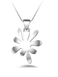 Недорогие -Геометрической формы Геометрия Уникальный дизайн Мода Euramerican Ожерелья с подвесками Цирконий Стерлинговое серебро Циркон Ожерелья с