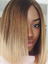 130% Density Malaysian Virgin Hair Short Bob Full Lace Wigs Straight Hair Two Tone Ombre T1B/Blonde Color Human Hair Lace Bob Wigs For Fashion Woman