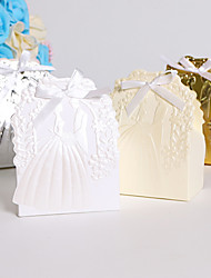 cheap -Round Square Creative Card Paper Favor Holder with Ribbons Printing Favor Boxes - 25