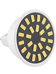 abordables -1pc 3W 400-500lm GU5.3(MR16) Focos LED MR16 24 Cuentas LED SMD 5733 Decorativa Blanco Cálido Blanco Fresco 110-130V 220-240V
