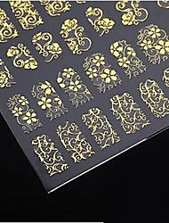 abordables -1x 108 PC 3D fleurs d'or Nail Art Sticker Stickers pour autocollants nail art