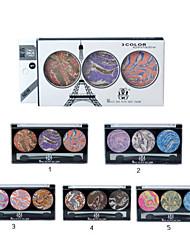 1 Pcs 3 D Diamond 3 Color Eye Shadow Eye Shadow Box Retro Sootiness Eye Shadow