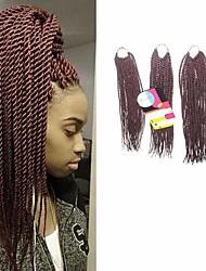 Senegal Trecce Twist Extensions per i capelli 18Inch+20Inch+22Inch Kanekalon 81 Strands filo 200g grammo capelli Trecce