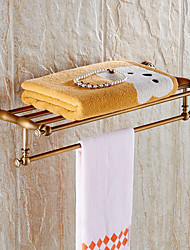 cheap -New Arrival Bathroom Accessories Classic Antique Brass Bathroom Towel Rack Bar Shelf Wall Mounted