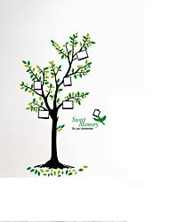 cheap -Large Tree Photo Frame Wall Stickers Tree Birds PVC Sweet Memory Wall Decals For Family Love Room