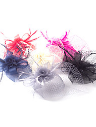 cheap -Tulle Feather Net Fascinators Flowers Headpiece Classical Feminine Style