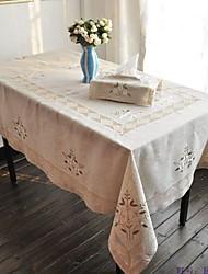 Rettangolare Floreale Tovaglie , Lino MaterialeTabella Dceoration Matrimoni Cena Decor Favor Decorazione casa Hotel Dining Table Wedding