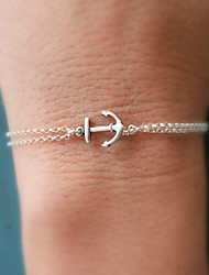 cheap -Women's Chain Bracelet - Anchor Basic, Double-layer, Fashion Bracelet Gold / Silver For Christmas Gifts / Party / Birthday