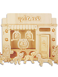 cheap -Building Blocks 3D Puzzles Jigsaw Puzzle Wooden Puzzles Educational Toy Toys Furniture Professional Level DIY Kids' 1 Pieces