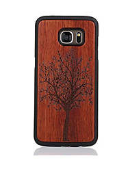 For Samsung Galaxy S7 S7edge Case Cover Tree Pattern Case Back Cover Case Hard Wooden and PC Material Combination