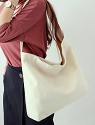 cheap -Women Bags Canvas Shoulder Bag for Wedding Event/Party Casual Sports Formal Outdoor Office & Career All Seasons Blue Black Milky White Red