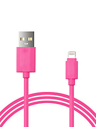 billige -Lightning Kabel Opladerkabel Opladerledning Data & Synkronisering Normal Kabel Til Apple iPhone iPad 100 cm Plastik