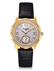 ieftine -Pentru femei Ceas La Modă Japoneză Quartz Rezistent la Apă Cronometru Piele Autentică Bandă Vintage Charm Casual Negru