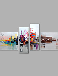 cheap -Hand-Painted Abstract Any Shape, Modern Canvas Oil Painting Home Decoration Four Panels