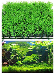 cheap -Aquarium Decoration Artificial Water Aquatic Green Grass Plant Lawn Fish Tank Landscape
