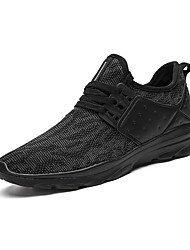 Men's Sneakers Spring Summer Fall Winter Mary Jane Light Soles PU Outdoor Athletic Casual Flat Heel Lace-up Fitness & Cross Training