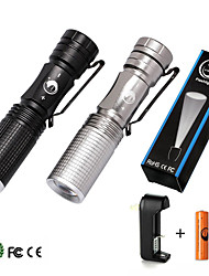 U'King LED Flashlights/Torch Flashlight Kits LED 1500 Lumens 5 Mode Cree XR-E Q5 Cree XM-L T6 Yes Adjustable Focus for
