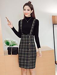 Women's Dailywear Sweet 16 School Fashion Autumn Winter T-shirt Skirt Suits,Classic Crew Neck Long Sleeve Modern Style strenchy