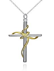 Dámské Náhrdelníky s přívěšky Řetízky Šperky Měď Postříbřené Cross ShapeJedinečný design Visací láska Srdce Geometrický přátelství