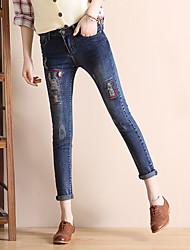 segno 2017 versione coreana di jeans stretch pantaloni femminili pantaloni matita stretta pantaloni skinny buco evidente