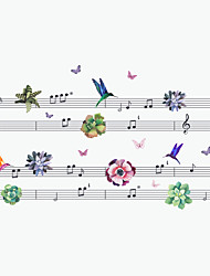 Wall Stickers Wall Decals Style Music Bird PVC Wall Stickers