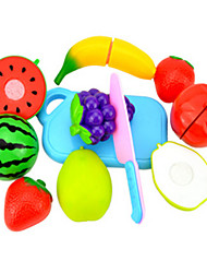 cheap -Toy Kitchen Sets Pretend Play Fruit & Vegetable Cutters Fruits & Vegetables Creative Novelty Plastic Boys' Kid's Gift
