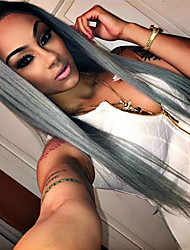 Hot Selling Synthetic Lace Front Wigs Silky Striaght Hair T1B/Grey Color Synthetic Fiber Hair Lace Wig