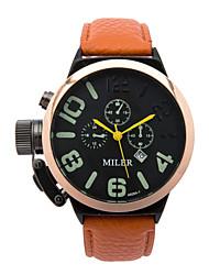 Pánské Módní hodinky Křemenný Kůže Kapela Černá Modrá Červená Orange