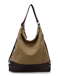 Women Bags All Seasons Canvas Shoulder Bag for Casual Sports Outdoor Office & Career Professioanl Use Blue Black Gray Khaki Dark Fuchsia